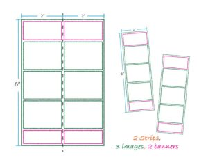 2 strips 3 images 2 banners layout