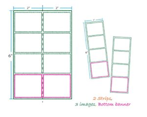 2 strips 3 images bottom banner layout