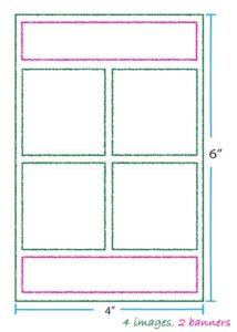 4 images Split Banner Layout