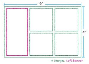 4 images left banner layout