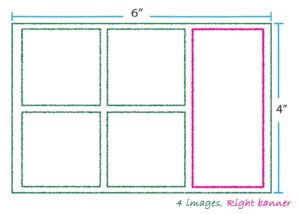 4 images right banner layout